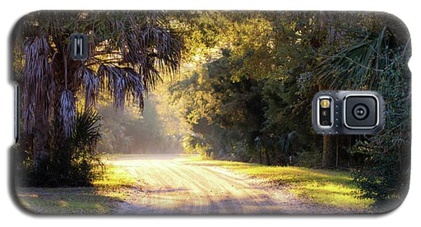 Light, Shadows And An Old Dirt Road Galaxy S5 Case