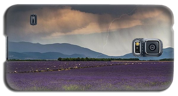 Lightning Over Lavender Field Galaxy S5 Case
