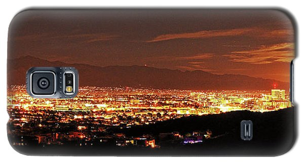 Lights Of Tucson And Moonrise Galaxy S5 Case