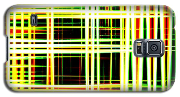 Lines And Squares In Color Waves - Plb418 Galaxy S5 Case