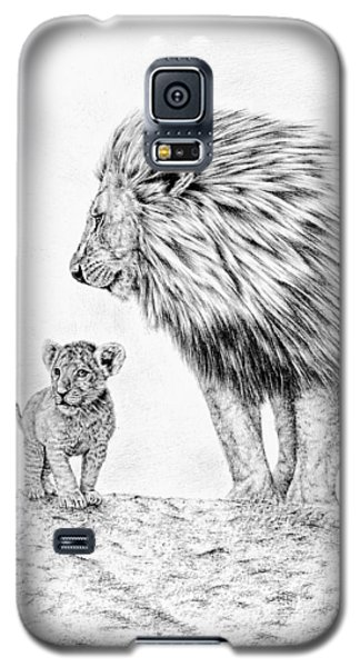 Lion And Cub Galaxy S5 Case