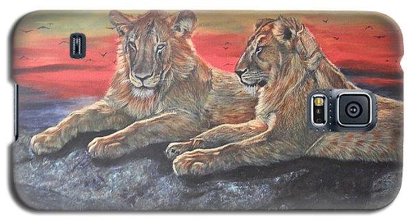 Lion Sunset Galaxy S5 Case