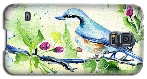 Little Blue Spring Bird Galaxy S5 Case