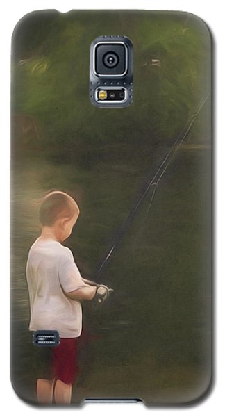 Little Boy Fishing Galaxy S5 Case