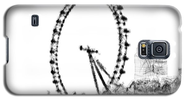Galaxy S5 Case featuring the digital art London Eye by ISAW Company