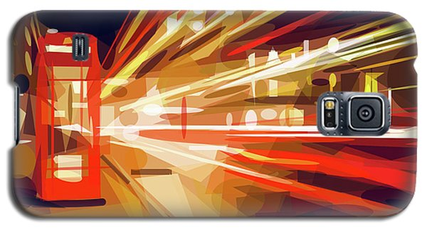 Galaxy S5 Case featuring the digital art London Phone Box by ISAW Company