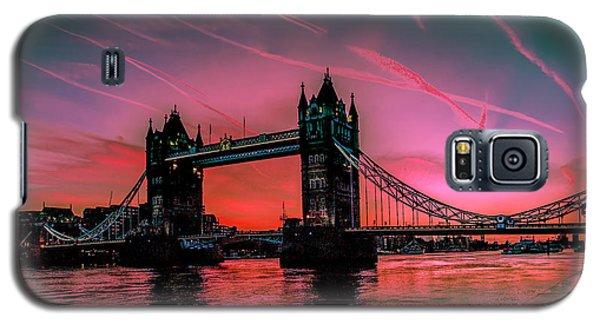 London Tower Bridge Sunrise Pano Galaxy S5 Case