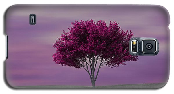 Lonely Tree At Purple Sunset Galaxy S5 Case