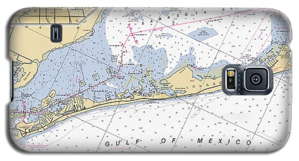 Longboat Ket Florida Noaa Nautical Chart Galaxy S5 Case