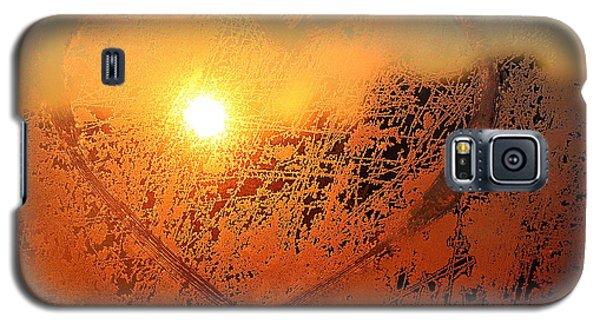 Icy Galaxy S5 Case - Love Symbol Drawn On The Frozen Winter by Artdi101