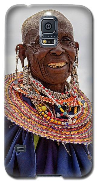 Maasai Woman In Tanzania Galaxy S5 Case