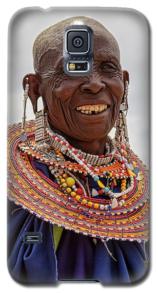Maasai Woman In Tanzania Galaxy S5 Case