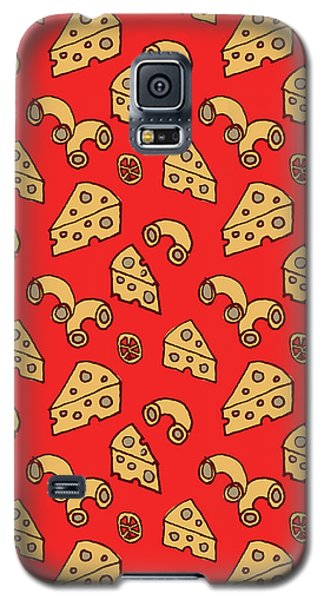 Mac And Cheese Pattern Galaxy S5 Case