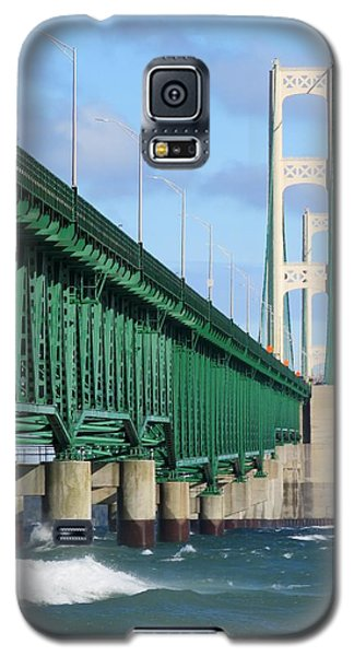 Mackinac Bridge And Waves Galaxy S5 Case