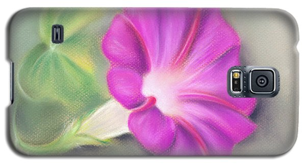 Magenta Morning Glory And Leaf Galaxy S5 Case