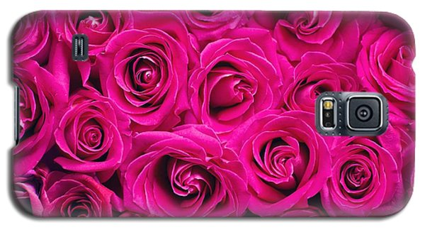 Magenta Roses Galaxy S5 Case
