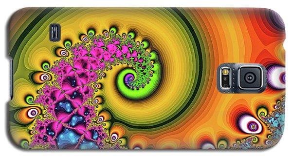 Magic Hook Orange Art Galaxy S5 Case