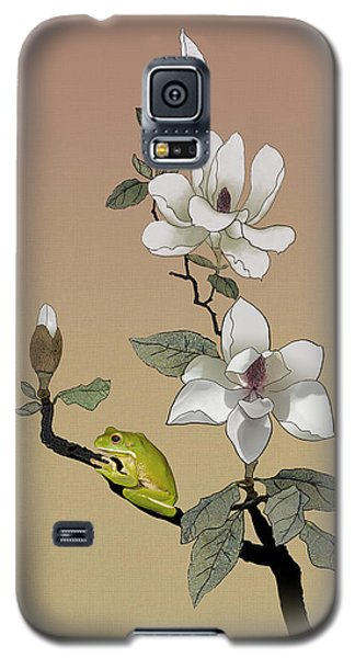 Magnolia And Tree Frog Galaxy S5 Case