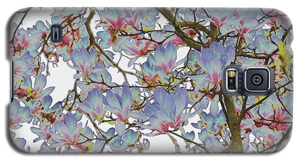 Magnolia Galaxy S5 Case - Magnolia Blue by Petra Koehler Rose