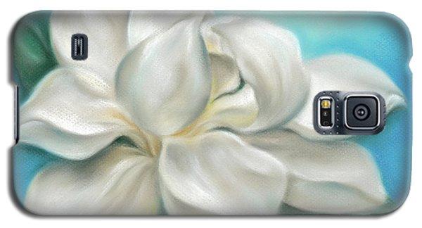 Magnolia Grandiflora Flower On Blue Galaxy S5 Case