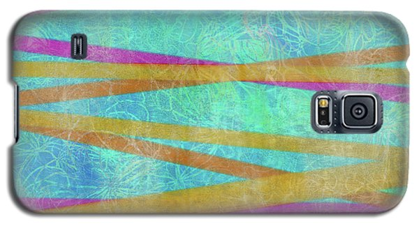 Malaysian Tropical Batik Strip Print Galaxy S5 Case