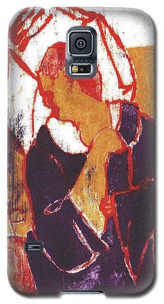 Man Sat On A Village Wall 2 Galaxy S5 Case