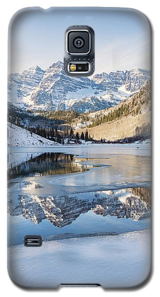 Maroon Bells Reflection Winter Galaxy S5 Case
