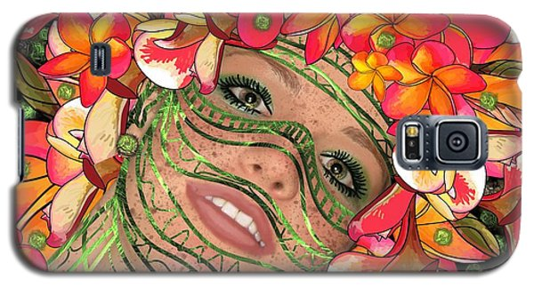 Mask Freckles And Flowers Galaxy S5 Case