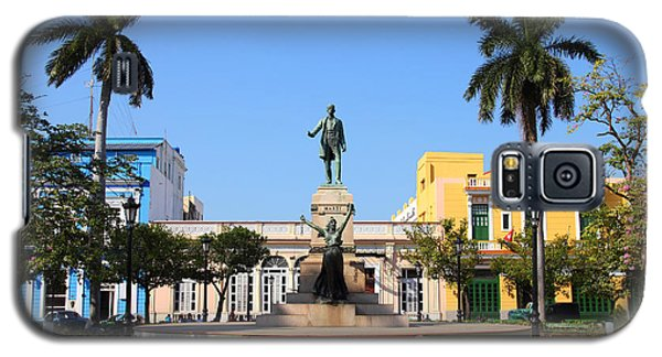 Town Galaxy S5 Case - Matanzas, Cuba - Main Square. Palm by Tupungato