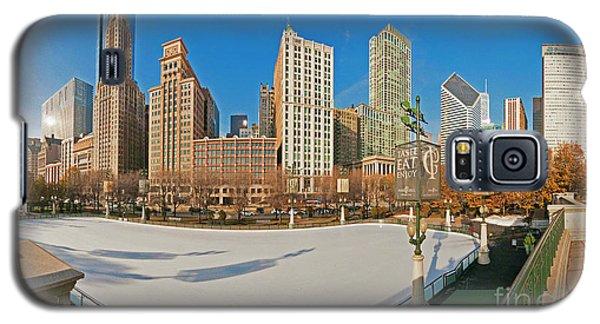 Mccormick Tribune Plaza Ice Rink And Skyline   Galaxy S5 Case