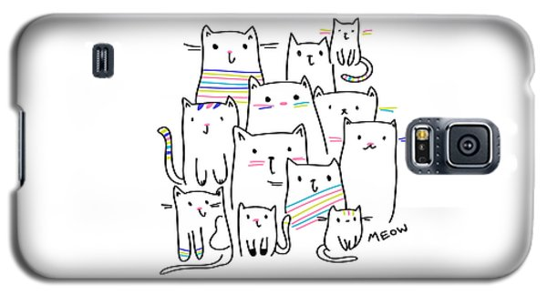 Meow Kitties - Baby Room Nursery Art Poster Print Galaxy S5 Case
