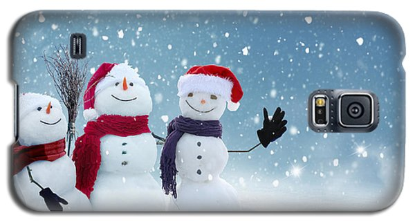 Icy Galaxy S5 Case - Merry Christmas And Happy New Year by Lilkar