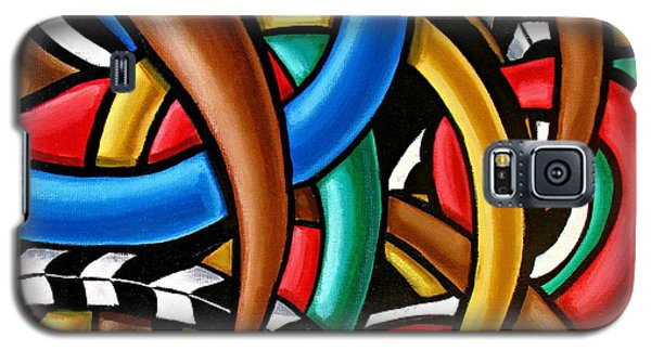 Colorful Abstract Art Painting Chromatic Intuitive Energy Art - Ai P. Nilson Galaxy S5 Case
