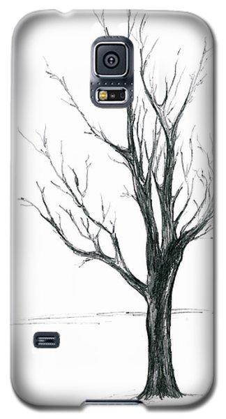 Minimal Winter Maple Tree Galaxy S5 Case