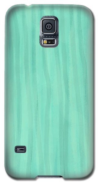 Mint Green Lines Galaxy S5 Case