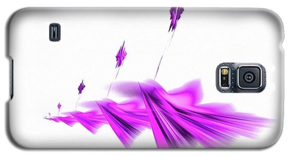 Missile Command Purple Galaxy S5 Case