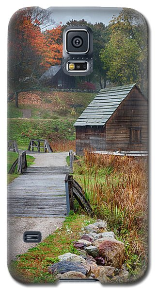 misty morning at Saugus Ironworks Galaxy S5 Case
