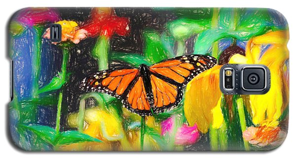 Monarch Butterfly Colored Pencil Galaxy S5 Case