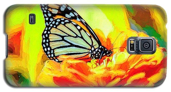 Monarch Butterfly Van Gogh Style Galaxy S5 Case