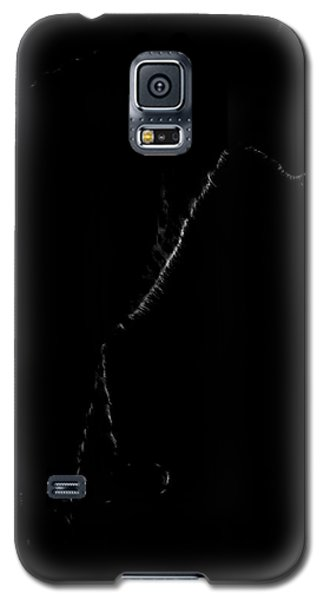Monochrome Leopard Outline Galaxy S5 Case