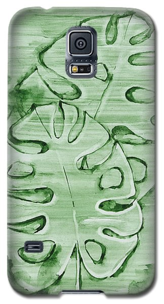 Monstera Leaves Galaxy S5 Case