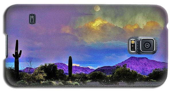 Moon At Sunset In The Desert Galaxy S5 Case