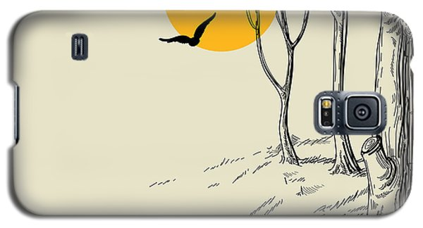 Branch Galaxy S5 Case - Moon In The Forest Sketch by Danussa