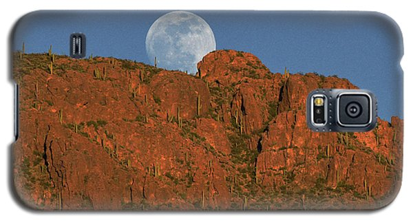 Moonrise Over The Tucson Mountains Galaxy S5 Case