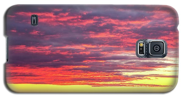 Morning Fire Over Whaleback Light Galaxy S5 Case