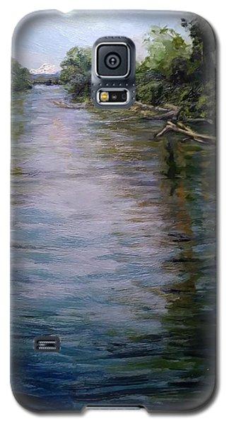 Mount Baker Peekaboo View From Lowell Riverfront Trail Galaxy S5 Case