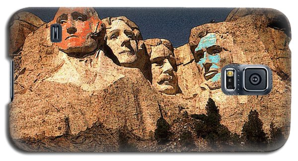 Mount Rushmore Red And Blue Drawing Galaxy S5 Case