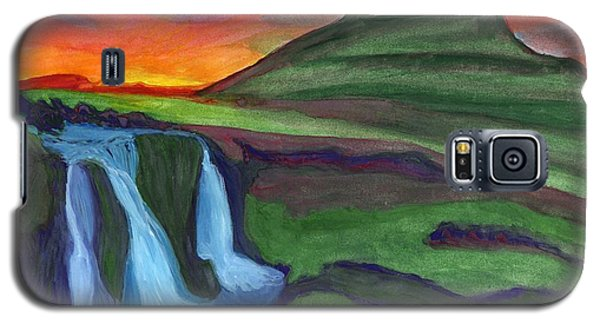 Mountain And Waterfall In The Rays Of The Setting Sun Galaxy S5 Case