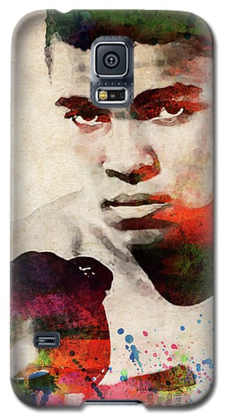 Boxing Muhammad Ali Galaxy S5 Case - Muhammad Ali Watercolor Portrait by Mihaela Pater