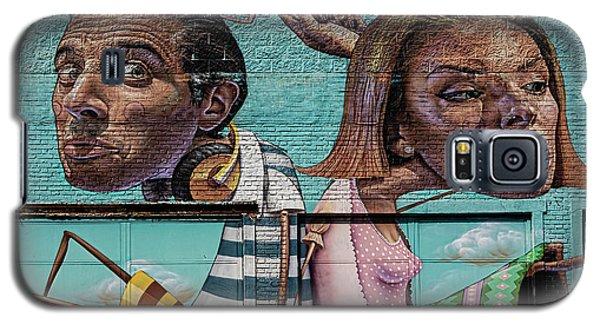 Mural - West Side Of Manhattan Galaxy S5 Case
